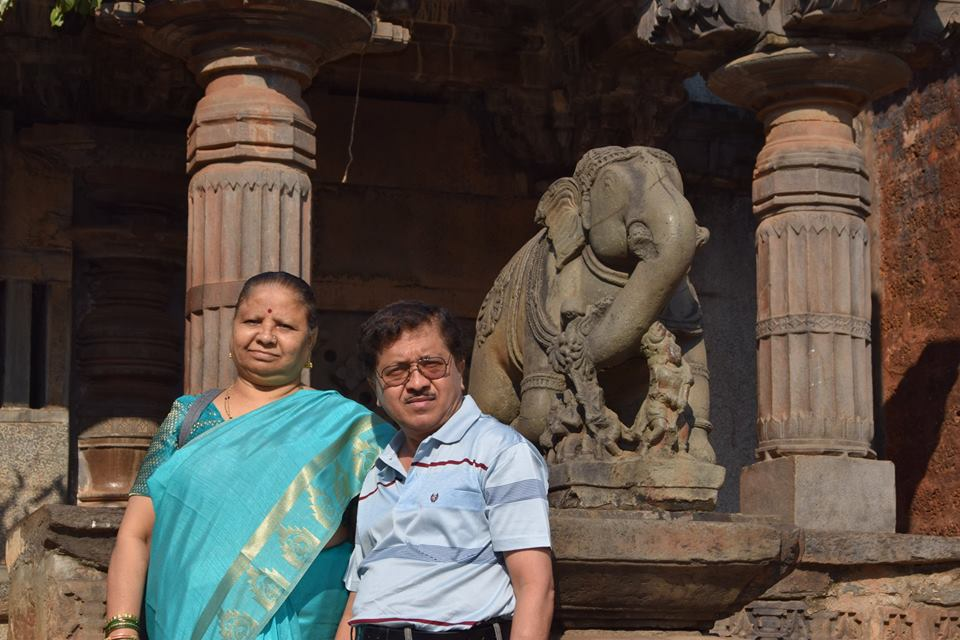 My Parents at Banavasi Temple